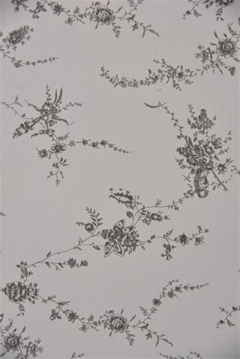 Wallpaper - Flowers - French grey