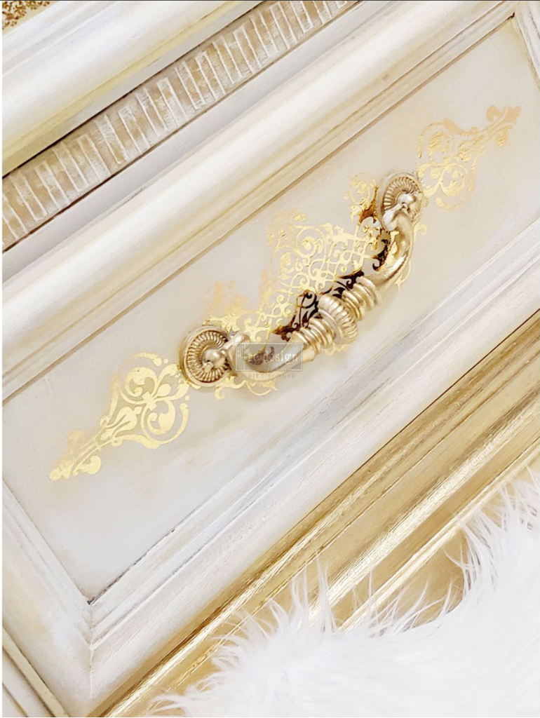 Redesign gold transfer gilded baroque scrollwork