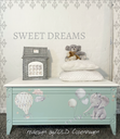 Redesign decor transfers sweet dreams 24x35 into 2 sheets