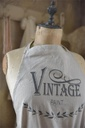 Apron - Vintage paint logo - linen color