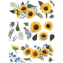 "Redesign Decor Transfers® - Sunflower Fields - 3 sheets, design size 22"" X 30"""