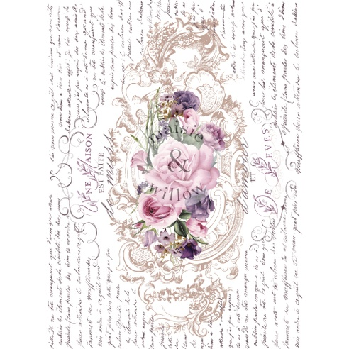 Maisie & Willows Transfers - Floral Poems  2 sheets - total size 16 x 23 / rub on