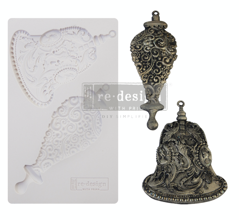 Redesign decor moulds silver bells 5x8 8mm thick