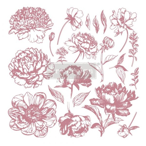 Redesign Decor Clear-Cling Stamps - Linear Floral