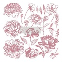 [655350649159] Redesign Decor Clear-Cling Stamps - Linear Floral