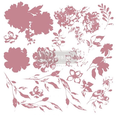 Redesign Decor Clear-Cling Stamps - Sweet Blossoms