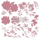 [655350649425] Redesign Decor Clear-Cling Stamps - Sweet Blossoms