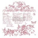 [655350650070] Redesign Decor Clear-Cling Stamps - Floral Script