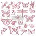 [655350650087] Redesign Decor Clear-Cling Stamps - Monarch Collection