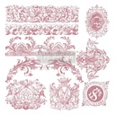 [655350650117] Redesign Decor Clear-Cling Stamps - Chateau De Maisons