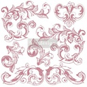 [655350649906] Redesign Decor Clear-Cling Stamps - Elegant Scrolls