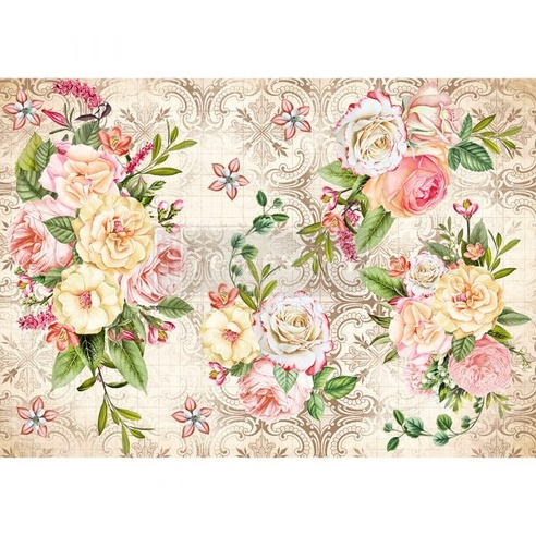 Redesign Decor Rice Paper - Amiable Roses