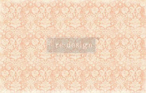 Redesign decoupage decor tissue paper peach damask 19x30 2 sheets