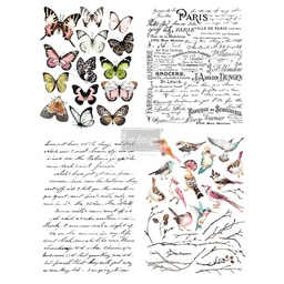 [655350635466] Redesign decor transfers parisian butterflies 22x 30